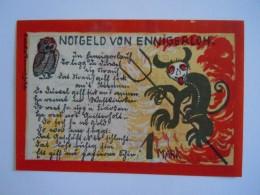 Allemagne Notgeld 1921 Der Gemeinde Ennigerloh 1 Mark Neu Duivel Satan - Lokale Ausgaben