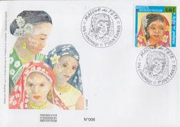 Enveloppe  FDC  1er  Jour    MAYOTTE     Masque  De  Fête    CHIRONGUI    2003 - Mayotte (1892-2011)