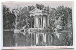 TEMPIO DI ESCULAPIO SUL LAGO, VILLA UMBERTO I, GIA BORGHESE, ROMA, ITALIA ITALY - Old Paper