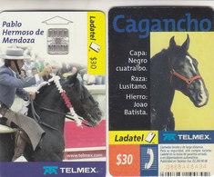 Mexico Phonecard LADATEL TELMEX PABLO HERMOSO DE MENDOZA With Cagancho Luzitan Horse No Credit Good Condition - Mexico