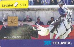 Mexico Phonecard LADATEL TELMEX PABLO HERMOSO DE MENDOZA With Chicuelo His Luzitan Horse No Credit Good Condition - Mexico