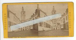 BELGIQUE MONS Circa 1870 PHOTO STEREO /FREE SHIPPING REGISTERED - Photos Stéréoscopiques