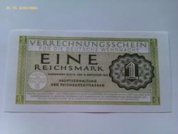 Billete Alemania. 1 Marco. 1944. Alemania. 1939-1945. II Guerra Mundial. Réplica - [ 4] 1933-1945 : Terzo  Reich