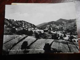 16352) GENOVA BORLASCA ISOLA DEL CANTONE PANORAMA VIAGGIATA 1955 CIRCA PIEGA ANGOLO BASSO DESTRO - Genova