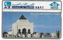 @+ Maroc - MAUSOLEE DE MOHAMMED V - 50U. (306A). 1993 - Ref : ONPT-2 (306A) - Maroc