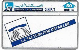 @+ Maroc - Facturation Detaillée ONPT - 50U. (401C) - Ref : ONPT-22 (401C) - Morocco