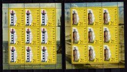 2013 Lithuania / Litauen -Lighthouses Kleipeda (Memel)/ Windenburger Eck - Sheetlets Set  - MNH** MI 1141/1142 - Leuchttürme