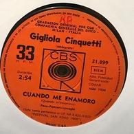Sencillo Argentino De Gigliola Cinquetti Cantado En Italiano Año 1968 - Other - Italian Music