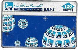 @+ Maroc - Globe Composition - 120U. (412E). 1994 - Ref : ONPT-27 (412E) - Morocco