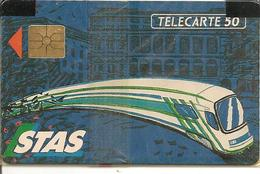 CARTE-µ-PUBLIC-F199-50U-GEM-STAS-V° Série G -NSB-TBE - France