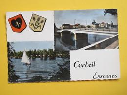 CORBEIL ESSONNES - Le Pont Et La Mairie - Voilier - Corbeil Essonnes