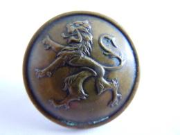België Belgique  Knoop Koper Leeuw Bouton Cuivre Lion 2,20 Cm - Buttons