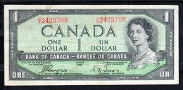 CANADA 1954 BANK OF CANADA/BANQUE DE CANADA . 1 DOLLAR. ELISABETH II    MBC..B160 - Canada