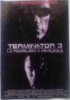 Folleto De Mano. Película Terminator 3. La Rebelión De Las Máquinas. Arnold Schwarzenegger. Claire Danes - Merchandising