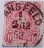 Sello Alemania. 10 Pfenning. Kaiser Guillermo II. II Reich. 1888-1918 - Alemania