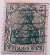 Sello Alemania. 5 Pfenning. Kaiser Guillermo II. II Reich. 1888-1918 - Alemania