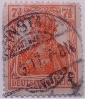 Sello Alemania. 7 1/2 Pfenning. Kaiser Guillermo II. II Reich. 1888-1918 - Alemania