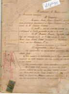 VP12.166 - MARENNES - Acte De 1920 - Entre Mme AVAILLET & Mr LUZINEAU Vente D'une Maison & Terre Situées à SAINT - JUST - Manuscripts