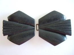 Oude Gesp In Bakeliet Sluiting Kapot Ancienne Boucle De Ceinture Bakelite Fermeture Cassée 7,5 X 4 Cm - Ceintures & Boucles