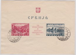 Serbia-Occupation       .   Michel    Blok  1       .      O     .   Cancelled     .     /    .   Gebruikt - Servië