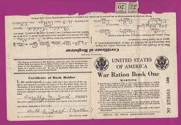 United States Of America USA - War Ration Book 1 - 1942 - Zoch Famiy - 6 Booklets / Pages - Supplies And Equipment