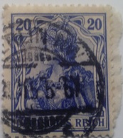 Sello Alemania. 20 Pfenning. Kaiser Guillermo II. II Reich. 1888-1918 - Alemania