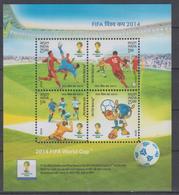 INDIA 2014 FOOTBALL WORLD CUP S/SHEET - Fußball-Weltmeisterschaft