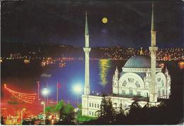 Turkey Istanbul Postcard Via Macedonia - Dolmabahce Mosque And Bosphorus - Islam - Islam