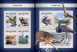 Maldives 2018, Animals, Fishing Birds, 4val In BF+BF - Marine Web-footed Birds