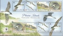 Pitcairn Islands 2016 Bloc Feuillet WWF Pétrel à Poitrine Blanche Neuf ** - Pitcairn