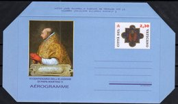 VATICAN, 2018, MINT, AEROGRAMME, POPES, 600TH ANNIVERSARY OF ELECTION OF POPE MARTIN V, - Papes