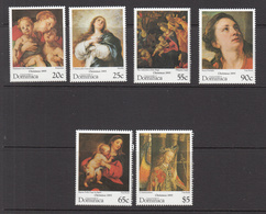 1995 Dominica Christmas Noel Art Paintings Complete Set Of 6 MNH - Dominica (1978-...)