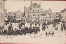 Mechelen Malines La Grand Place Et L' Ancienne Halle Au Draps Nels Serie 30 Nr 1 (kreukje) - Mechelen