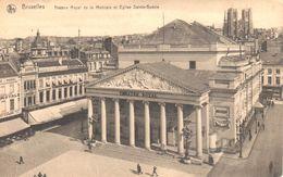 Bruxelles - CPA - Brussel - Théâtre Royal De La Monnaie Et Eglise Sainte-Gudule - Monuments, édifices