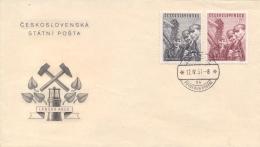 Czechoslovakia 1951 FDC Apprentice Miners - Fabbriche E Imprese