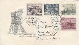 Czechoslovakia 1952 FDC Miner's Day Posted - Fabbriche E Imprese