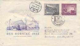 Czechoslovakia 1953 FDC Miner's Day Posted - Fabbriche E Imprese