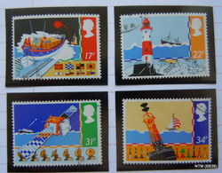 GREAT BRITAIN GB 1985. Safety At Sea. Set Of 4 Stamps. SG 1286-1289. Used. - 1952-.... (Elizabeth II)