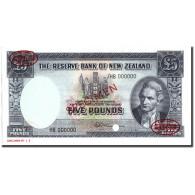 Billet, Nouvelle-Zélande, 5 Pounds, 1956-60, Specimen TDLR, KM:160c, NEUF - New Zealand