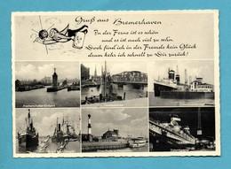 Allemagne Deutschland Gruss Aus Bremerhaven ( Format 10,5 X 15 ) - Bremerhaven