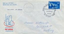 Netherlands Antilles Nederlandse Antillen 1959 FDC Sea Water Distillation Plant - Fabbriche E Imprese