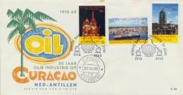 Netherlands Antilles Nederlandse Antillen 1965 FDC 50th Anniversary Oil Industry - Fabbriche E Imprese
