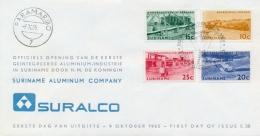 Surinam Suriname 1965 FDC Aluminum Industry & Hydroelectric Plant - Fabbriche E Imprese