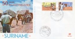 Surinam Suriname 1965 FDC Bauxite Industry - Fabbriche E Imprese