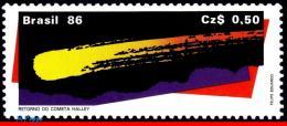 Ref. BR-2043 BRAZIL 1986 SPACE EXPLORATION, HALLEYÂ'S COMET,, RETURN OF THE COMET, MNH 1V Sc# 2043 - Brazil
