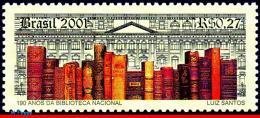 Ref. BR-2785 BRAZIL 2001 BOOKS, NATIONAL LIBRARY, 190TH, ANNIV., MI# 3142, MNH 1V Sc# 2785 - Brazil