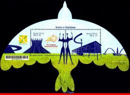 Ref. BR-3126 BRAZIL 2010 - DREAM & REALITY, BRASILIA, , ART, BIRDS, RELIGION, UNUSUAL, MNH, ARCHITECTURE 2V Sc# 3126 - Other