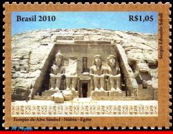 Ref. BR-3137 BRAZIL 2010 RELATIONSHIP, EGYPT, NUBIAN MONUMENTS,, ARCHAEOLOGY, ART, SCULPTURE, MNH 1V Sc# 3137 - Sculpture