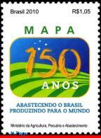 "Ref. BR-3138 BRAZIL 2010 HISTORY, 150 YEARS OF MINISTRY, AGRICULTURE, ""MAPA"", MNH 1V Sc# 3138 - Brazil"