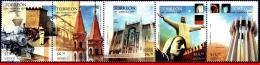 Ref. MX-2546 MEXICO 2007 CITIES, 100 YEAR OF TORREON CITIE, , TRAIN, CHURCHES, MNH 5V Sc# 2546 - Mexique